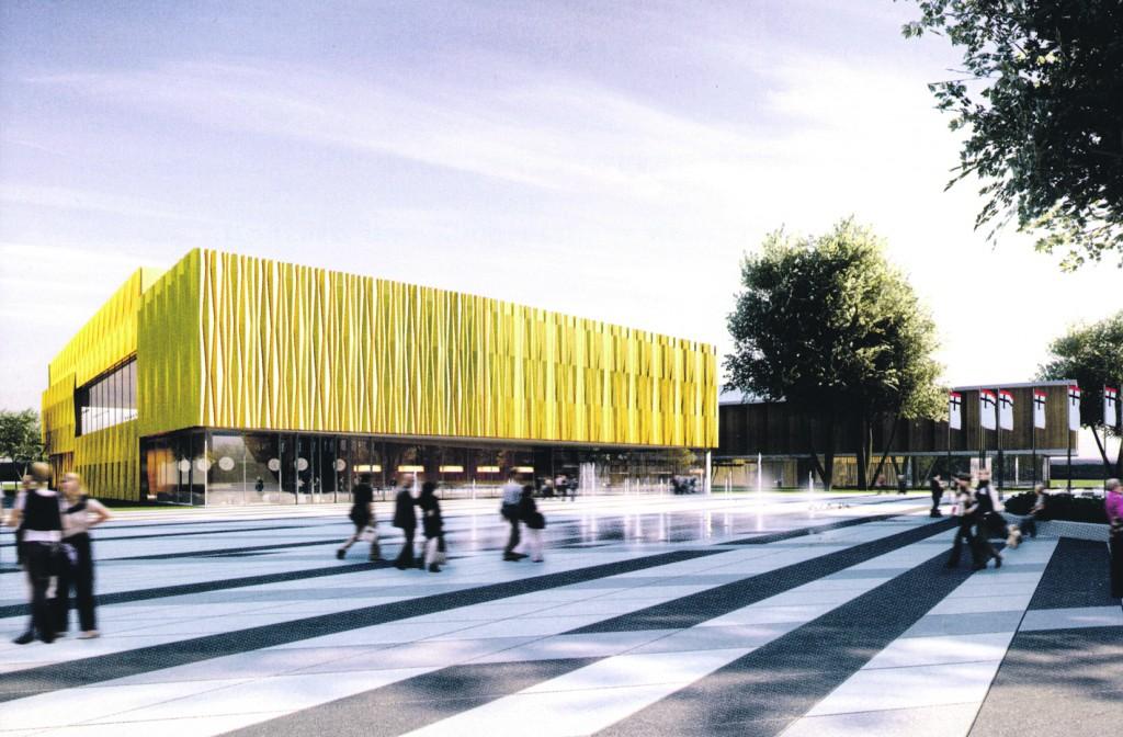 So sah der Entwurf eines Konzert- und Kongresshauses für Konstanz aus, über das die Bürger 2010 abstimmten. (Bild: Archiv)