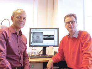 Augenärzte Frank-Andreas Longère (links) und Martin Reichel. (Bild: sb)