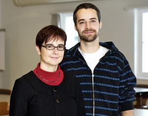 Dr. Sonja Perren und Doktorand Fabio Sticca von der PHTG. (Bild: zvg)