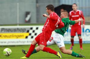 Schwer zu kämpfen hatte der FC Kreuzlingen im Cup-Spiel gegen den SV Muttenz. (Archivbild: Gaccioli)