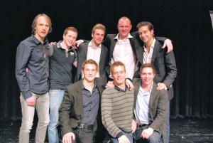 Das Wasserball-Team des Schwimmclubs Kreuzlingen wurde zur «Mannschaft des Jahres 2012» gewählt. (Bild: kb)