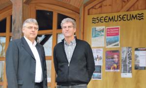 Museumsleiter Walo Abegglen (r.) und Stiftungspräsident Jürg Schlatter  wollen das Museum in eine attraktive Zukunft führen. (Bild: kb)