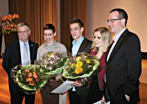 V.l.: Bernhard Koch, Michel Ammann, Tobias Krucker, Camilla Bischofberger und Toni Schönenberger. (Bild: zvg)