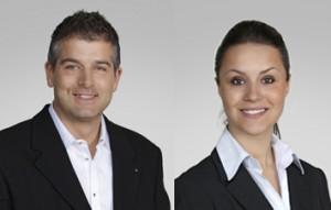 Mirko Spada und seine Nachfolgerin im Gemeinderat, Indira Mesinovic. (Bild: zvg)