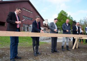 Der Startschuss für den Baubeginn des neuen Kompetenzzentrums Beratung Arenenberg ist gefallen. (Bild: zvg)