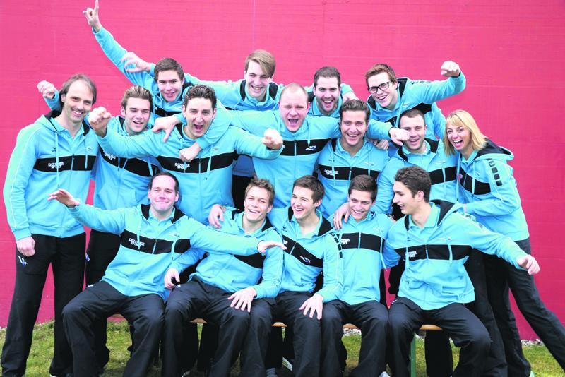 Die NLA-Wasserballer des SC Kreuzlingen. (Bild: Mario Gaccioli)