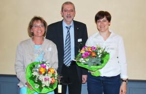 Ihren Abschied vom Vorstand des Spitex Kreuzlingen nahmen (v.l.) Aline Migliore Fenners, Renato Canal und Astrid Schallenberg. (Bild: Thomas Martens)