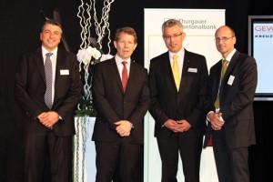 Das Bild zeigt (v.l.) Werner Meister, Dr. Fritz Zurbrügg, Hans-Jörg Schoop und Peter Markstaller. (Bild: zvg)