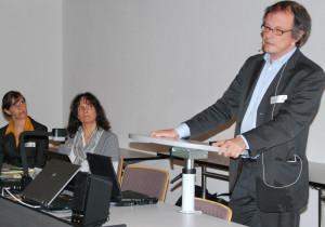 Dr. Katrin Schmelz, Dr. Miryam Eser Davolio und Prof. Dr. Thomas Hinz (v.l.) beim Thurgauer Wirtschaftsforum. (Bild: Thomas Martens)