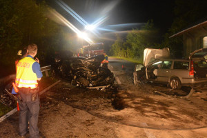Vier Personen wurden bei dem Unfall verletzt. (Bild: Kapo TG)