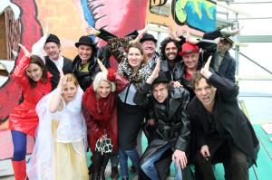 Das Ensemble probt zurzeit auf der Seebühne im Seeburgpark. (Bild: zvg)