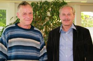 Roger Junker und Vize-Stadtammann David Blatter. (Bild: zvg)