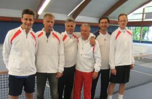 Auf dem Bild von links nach rechts: Roland Albrecht, Luc Joosen, Andreas Gindele, Thomas Walter, Zoran Gabric und Alexander Rukavina. (Bild: zvg)