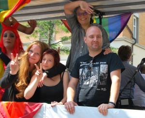 Stefan Baier, Vorsitzender des CSD Konstanz, beklagte die Abwesenheit Kreuzlinger Politiker bei der Parade.