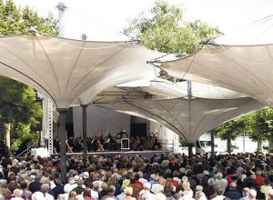 Die Philharmonie bei ihrem Sommerkonzert in Konstanz. (Bild: zvg)