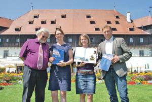 V.l.: Prof. Dr. Harald Siebenmorgen, Dr. Susanne Rau, Viktoria Weinebeck und Klaus-Dieter Schnell. (Bild: kb)