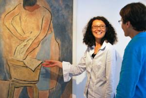Kuratorin Helga Sandl (r.) und Museumsleiterin Heidi Hofstetter freuen sich auf die neue Sonderausstellung «Carl Roesch – Begegnungen». (Bild: kb)