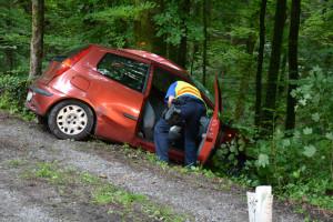 Der 21-jährige Autofahrer verstarb noch auf der Unfallstelle (Bild: Daniel Meili/Kapo Thurgau)