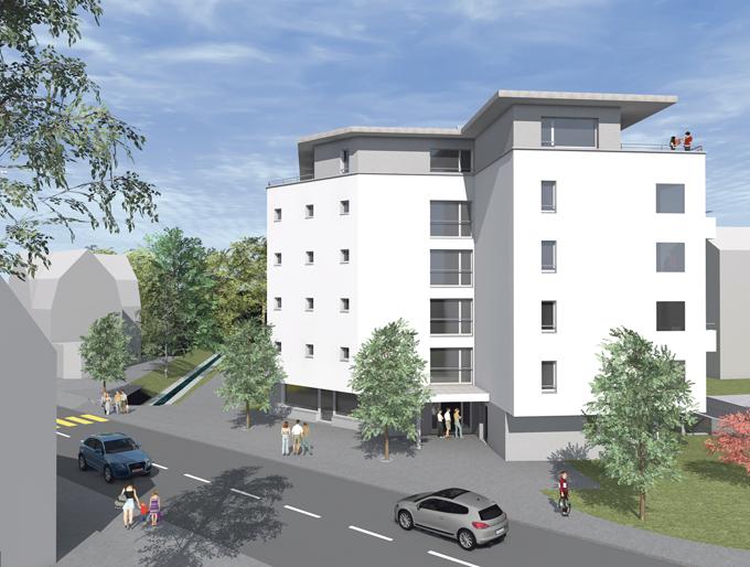 Visualisierung des Neubaus an der Bachstrasse 11. (Bild: zvg)