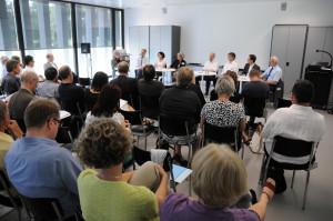In der abschliessenden Podiumsdiskussion haben die Referentinnen und Referenten der Tagung die Merkmale einer guten Lehre in der Lehrerinnen- und Lehrerbildung herausgeschält. (Bild: zvg)