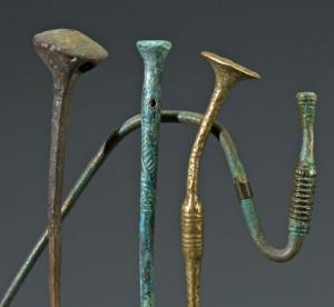 Prähistorische Metallfunde im Museum für Archäologie: Gewandnadeln aus dem Kanton Thurgau. (Bild: zvg)