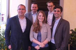 Der Vorstand (v.li.): Urs Martin, Reinhard Wegelin, Linda Brunner, Daniel Leuthard und Thomas Gemperle.