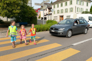 Im Strassenverkehr ist zum Schulanfang besondere Vorsicht geboten (Bild: Kapo TG)