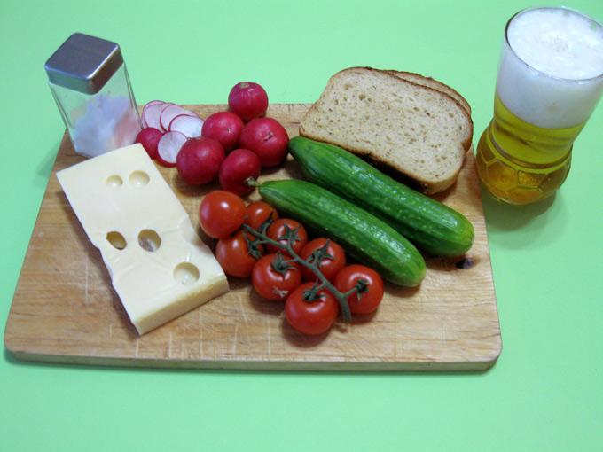 So sieht eine deutsche Brotzeit aus. (Bild: Rüdiger Uwe Eichler/pixelio.de)