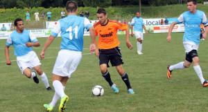 Die Spieler des AS Calcio unterlagen im Schweizer Cup dem FC Schötz. (Bild: Mike Gadient)