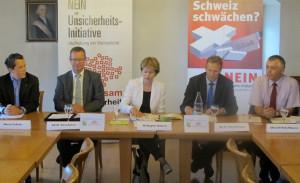 Unser Bild zeigt (v.l.) Marcel Schuler, Walter Schönholzer, Brigitte Häberli, Markus Hausammann und Reto Maurer. (Bild: zvg)