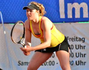 Neuzugang Laura Siegemund trug massgeblich zum Erfolg der Kreuzlinger Tennisdamen in der NLA bei. (Bild: Mario Gaccioli)