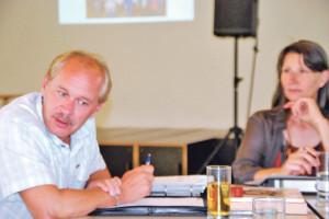 Stadtrat David Blatter traf auf interessierte TeilnehmerInnen. (Bild: sb)
