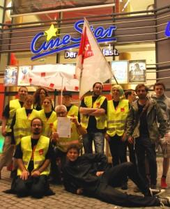 Konstanzer Kino-Beschäftigte streikten. (Bild: kb)