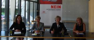 Machen mobil: (Von links nach rechts) Kristiane Vietze, Verena Herzog, Judith Barben und Regula Marti. (Bild: zvg)
