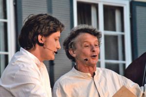 Schauspieler Simon Engeli (l.) und Joe Fenner. (Bild: kp)
