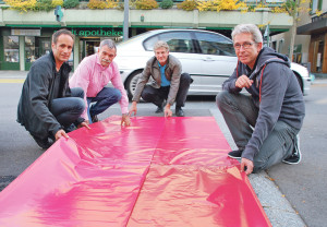 Markus Brüllmann, Christian Winterhalter, Walo Abbeglen und Ruedi Herzog von der Kreuzlinger SP-Gemeinderatsfraktion. (Bild: Thomas Martens)