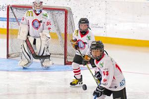 Kinder können am Sonntag in der Bodensee-Arena Eishockeyluft schnuppern. (Bild: zvg)