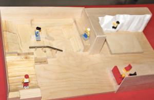 Dreidimensionales Modell mitSkaterampen und Kletterwand. (Bild: zvg)