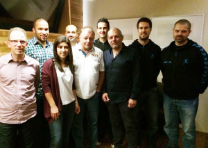 Vorstand AS Calcio Kreuzlingen (v.l.) Wolfgang Wehrle, Adam Fall, Concetta Critelli, Daniele Scardino, Daniel Egger, Marcus Meloni, Mario Di Pippo, Christian Ecknauer und Nic Balbi. (Bild: zvg)
