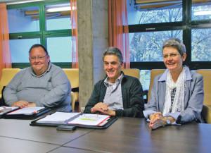 Urs Siegfried, Carl Ruch und AZK-Geschäftsführerin Anna Jäger (v.l.). (Bild: sb)