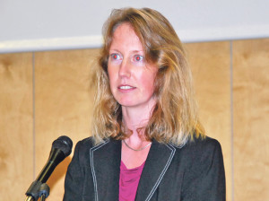 Frau Gemeindeammann Fabienne Schnyder. (Bild: Thomas Martens)