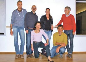 Das OK der Sportlergala (v.l.): René Knöpfli, Daniele Scardino, Ursula Keller, Alex Lisser, Ruedi Wolfender und Urs-Peter Rutishauser. (Bild: sb)