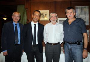 Stadtrat David Blatter, Markus Meile, René Imesch und Kurt Affolter (v.l.). (Bild: zvg)