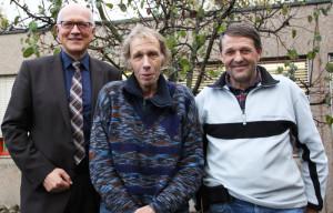 Stadtammann Andreas Netzle, Walter Lauber und Werner Stiefel, Leiter Werkhof (v.l.). (Bild: zvg)