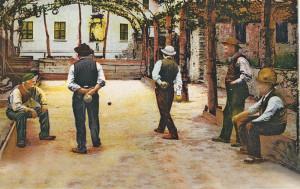 Eine Boccia-Szene aus längst vergangenen Tagen. (Bild: zvg)