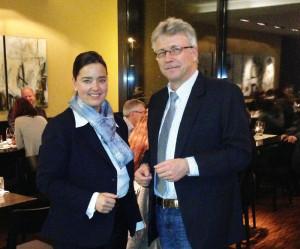 CVP Regierungsratskandidatin Carmen Haag und Ortspräsident Ernst Zülle. (Bild: zvg)