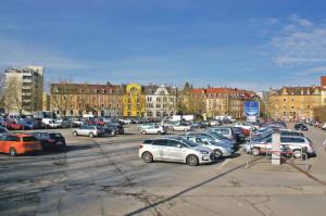 Das Döbele in Konstanz, ein stark frequentierter Parkplatz. (Bild: sb)