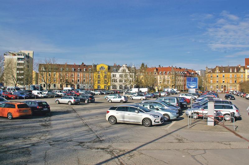 Das Döbele in Konstanz, bisher nur ein Parkplatz. (Bild: sb)