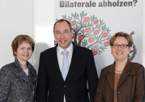 Von links: Ständerätin Brigitte Häberli, Christian Neuweiler, Präsident IHK Thurgau und Nationalrätin Edith Graf-Litscher. (Bild: zvg)