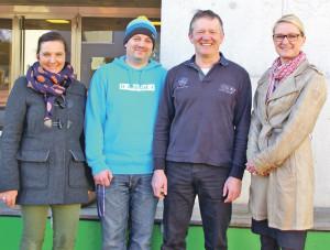 Jugendarbeiter Bastian Ehrmann (2.v.l.) und die Neuen im OJAT-Vorstand Nicole Birk, Gregor Kohler und Rosmarie Obergfell (v.l.). (Bild: sb)